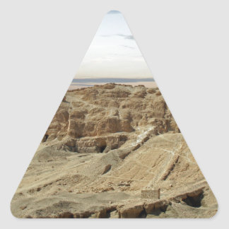 egypt desert triangle sticker