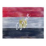Egypt distressed Egyptian flag Postcard