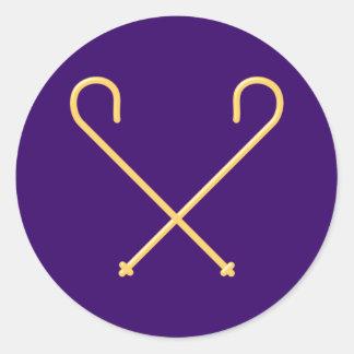 Egypt Egypt sceptre sceptre more scepter sceptre Classic Round Sticker