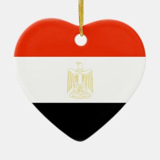 Egypt Flag Ceramic Ornament