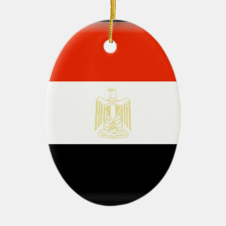 Egypt Flag Christmas Ornaments