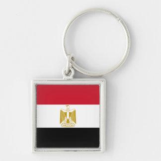 Egypt Flag EG Silver-Colored Square Keychain