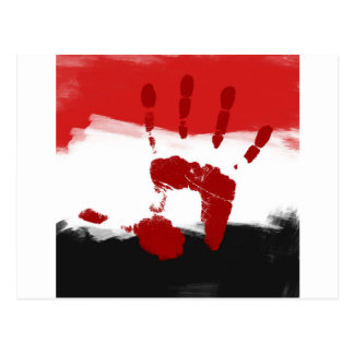 "Egypt Flag ""Freedom"" Postcard"