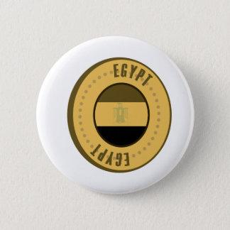 Egypt Flag Gold Coin Pinback Button