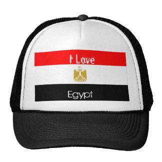 egypt-flag, I Love, Egypt Trucker Hat