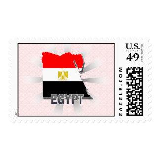 Egypt Flag Map 2.0 Stamp