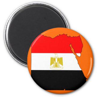 Egypt flag map 2 inch round magnet