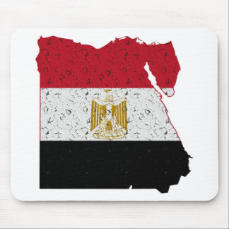 Egypt Flag Map Crackle Mouse Pad