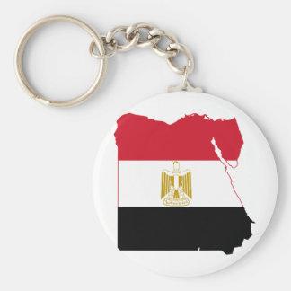 Egypt Flag map EG Basic Round Button Keychain