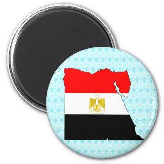 Egypt Flag Map full size Magnets