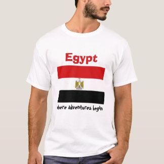 Egypt Flag + Map + Text T-Shirt