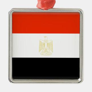 Egypt Flag Metal Ornament