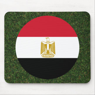 Egypt Flag on Grass Mouse Pad