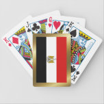 "Egypt Flag Playing Cards<br><div class=""desc"">The design on the back of these playing cards is the flag of Egypt surrounded by a decorative border. The perfect gift for Egyptian friends who like to play a little bridge,  whist or poker.</div>"