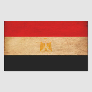 Egypt Flag Rectangular Sticker
