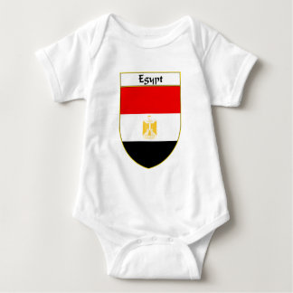 Egypt Flag Shield Baby Bodysuit