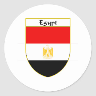 Egypt Flag Shield Classic Round Sticker