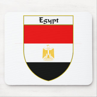 Egypt Flag Shield Mouse Pad