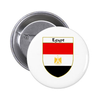 Egypt Flag Shield Pinback Button