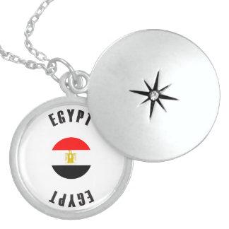 Egypt Flag Wheel Locket Necklace