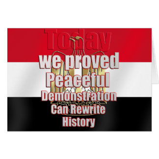Egypt freed by peaceful demonstration card