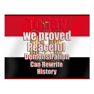Egypt freed by peaceful demonstration postcard