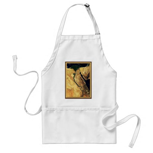Egypt from outer space adult apron