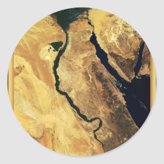 Egypt from outer space classic round sticker