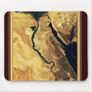Egypt from outer space mouse pad