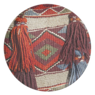 Egypt, Giza. Camel blanket at the Pyramids of Dinner Plate