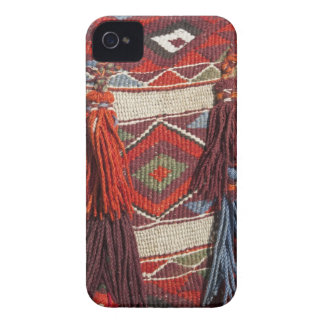 Egypt, Giza. Camel blanket at the Pyramids of iPhone 4 Cover