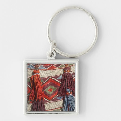 Egypt, Giza. Camel blanket at the Pyramids of Keychain