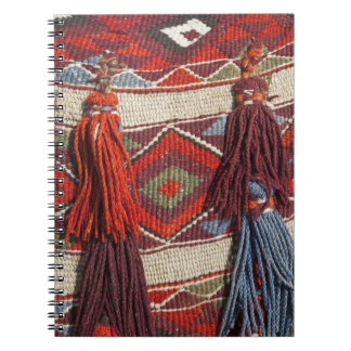 Egypt, Giza. Camel blanket at the Pyramids of Spiral Note Book