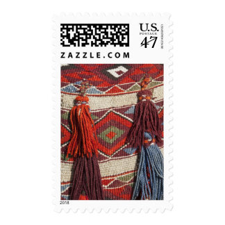 Egypt, Giza. Camel blanket at the Pyramids of Postage