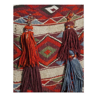 Egypt, Giza. Camel blanket at the Pyramids of Poster