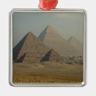 Egypt, Giza, Giza Pyramids Complex, Giza Plateau Metal Ornament