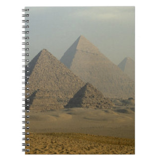 Egypt, Giza, Giza Pyramids Complex, Giza Plateau Spiral Notebook
