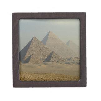 Egypt, Giza, Giza Pyramids Complex, Giza Plateau Premium Trinket Boxes