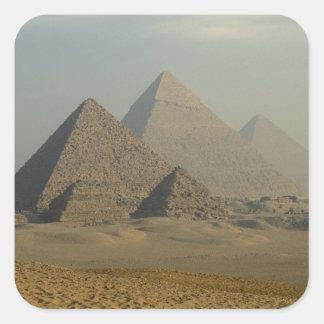 Egypt, Giza, Giza Pyramids Complex, Giza Plateau Square Sticker