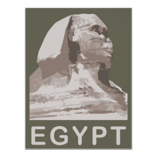 Egypt Giza Sphinx Poster