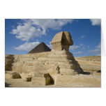 Egypt, Giza. The great Sphynx rises above the 2 Card