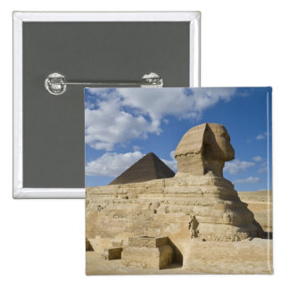 Egypt, Giza. The great Sphynx rises above the 2 Pinback Button