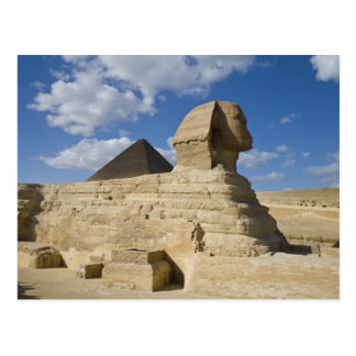 Egypt, Giza. The great Sphynx rises above the 2 Postcard