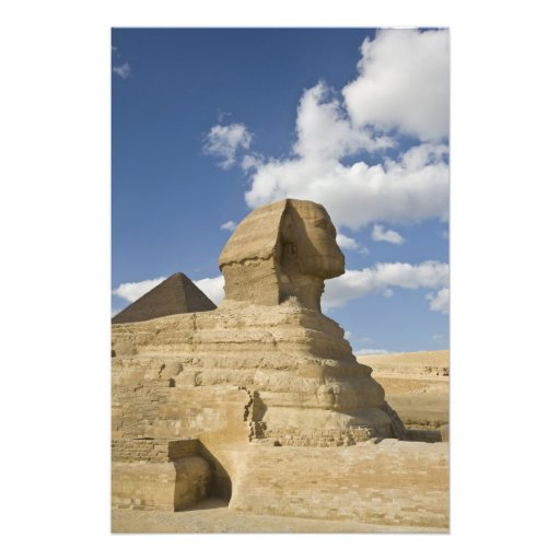 Egypt, Giza. The great Sphynx rises above the Photo Print