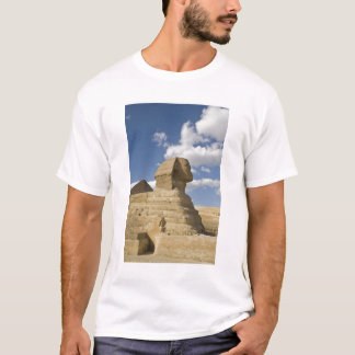 Egypt, Giza. The great Sphynx rises above the T-Shirt
