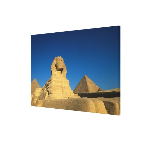 Egypt, Giza, The Sphinx, Old Kingdom, Unesco Canvas Print