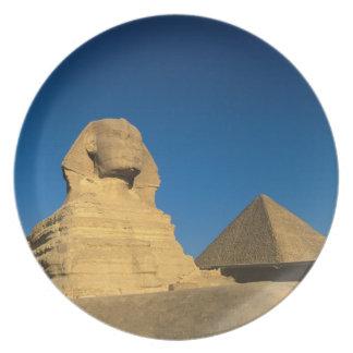 Egypt, Giza, The Sphinx, Old Kingdom, Unesco Melamine Plate