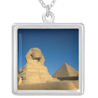 Egypt, Giza, The Sphinx, Old Kingdom, Unesco Silver Plated Necklace