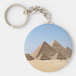 Egypt-Gizah Pyramids Basic Round Button Keychain
