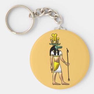 Egypt God Sobek egypt god Basic Round Button Keychain